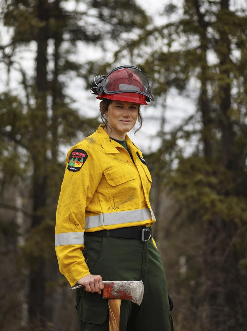 Picture of wildfire fighter Morgan Pinnock